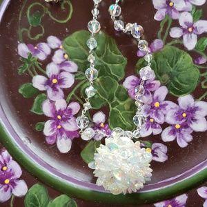 Jewelry - Vintage borealis disco ball necklace